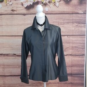 Express 100% silk collared blouse